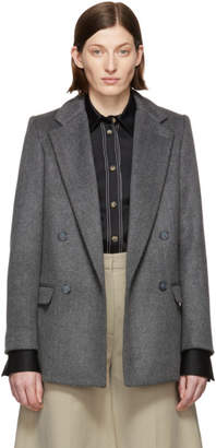 Stella McCartney Grey Double-Faced Wool Blazer