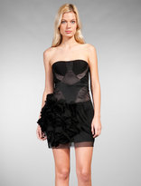 Runway Side Ruching Strapless Dress