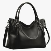 Heshe Vintage Leather Shoulder Handbags for Womens and Ladies Tote Purse Cross-body Bags Large Capacity