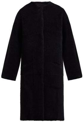 Raey Long-line Reversible Shearling Coat - Womens - Black