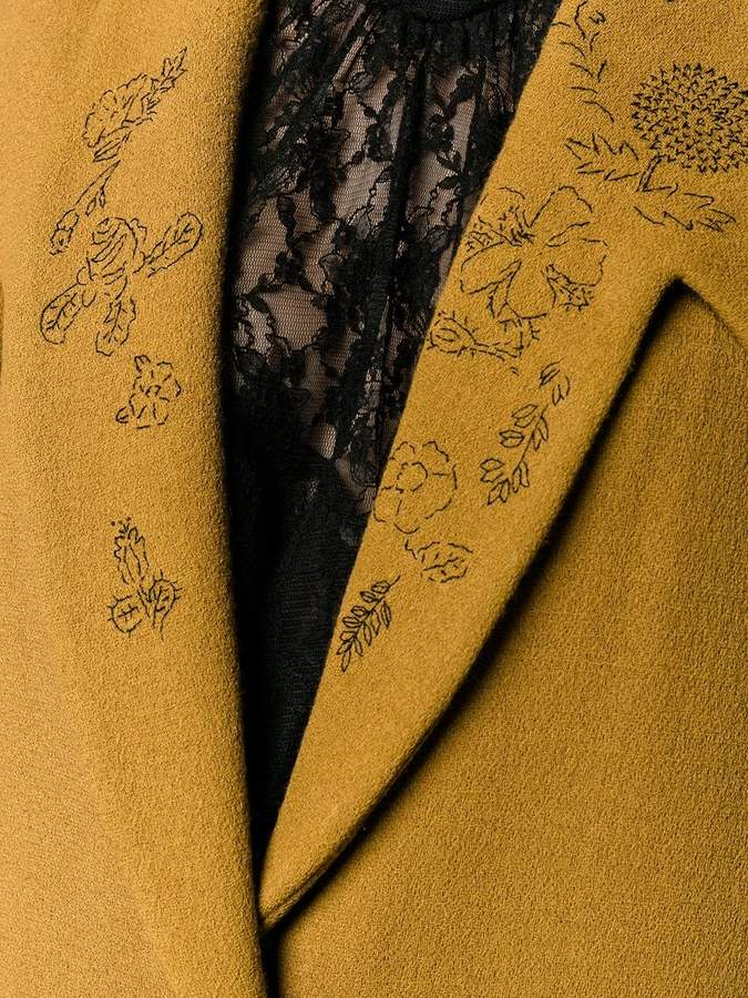 Creatures of the Wind floral lapel coat