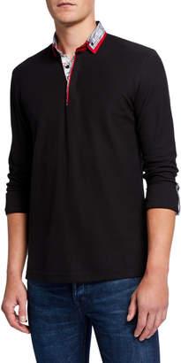 Maceoo Men's Newton Radio Long-Sleeve Polo Shirt