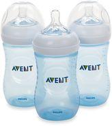 Phillips Avent Natural 3-Pack 9 oz. Bottles in Blue