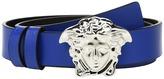 Versace Kids - Leather Belt with Medusa Buckle Boy's Belts