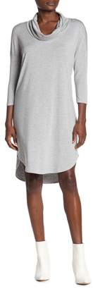 Michael Stars Cowl Neck 3/4 Length Sleeve Dress