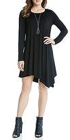 Karen Kane Ellie Long Sleeve Asymmetrical Hem Dress