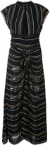 Proenza Schouler Crepe Striped Tied Dress