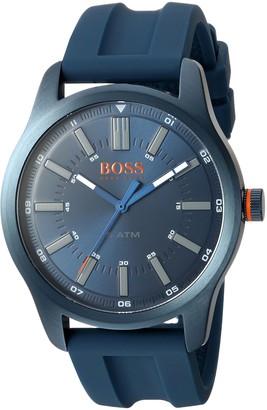 HUGO BOSS Orange Mens Analogue Classic Quartz Watch with Silicone Strap 1550046