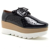 Qupid Showdown Perforated Lace-Up Platform Oxford