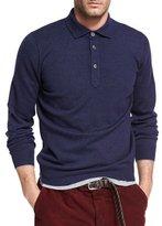 Brunello Cucinelli Cashmere Long-Sleeve Polo Sweater