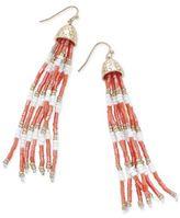 Thalia Sodi Gold-Tone Long Beaded Drop Earrings, Created for Macy's