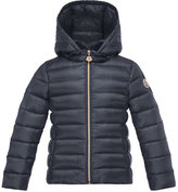Moncler Iraida Hooded Lightweight Down Puffer Jacket, Size 8-14