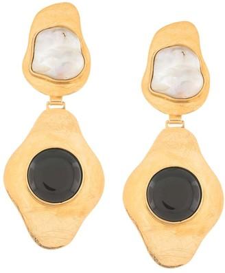 LIYA Stone-Embellished Drop Earrings