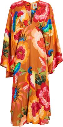 Farm Rio Cashew Floral Midi Dress