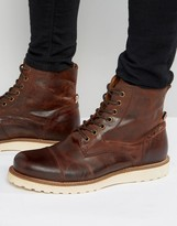 Jack & Jones Martin Lace Up Leather Boots