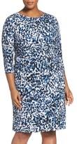 Eliza J Plus Size Women's Animal Print Jersey Sheath Dress
