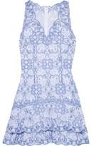 Jonathan Simkhai Tiered Broderie Anglaise Cotton Mini Dress