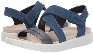 Ecco Flowt Cross Sandal (Marine/True Navy Cow Leather/Cow Nubuck) Women's Sandals