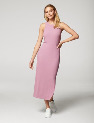 Forever New Hadley Rib Racer Midi Dress - Dusty Mulberry - 10