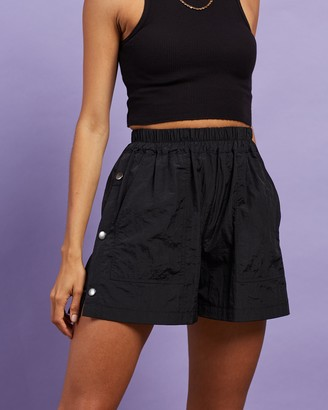 Dazie - Women's Black High-Waisted - NYC Boxing Shorts - Size 6 at The Iconic