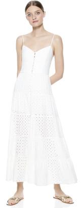 Alice + Olivia Shanti Button Front Maxi Dress