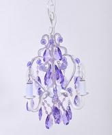 Tadpoles Lavender Three-Bulb Mini Chandelier