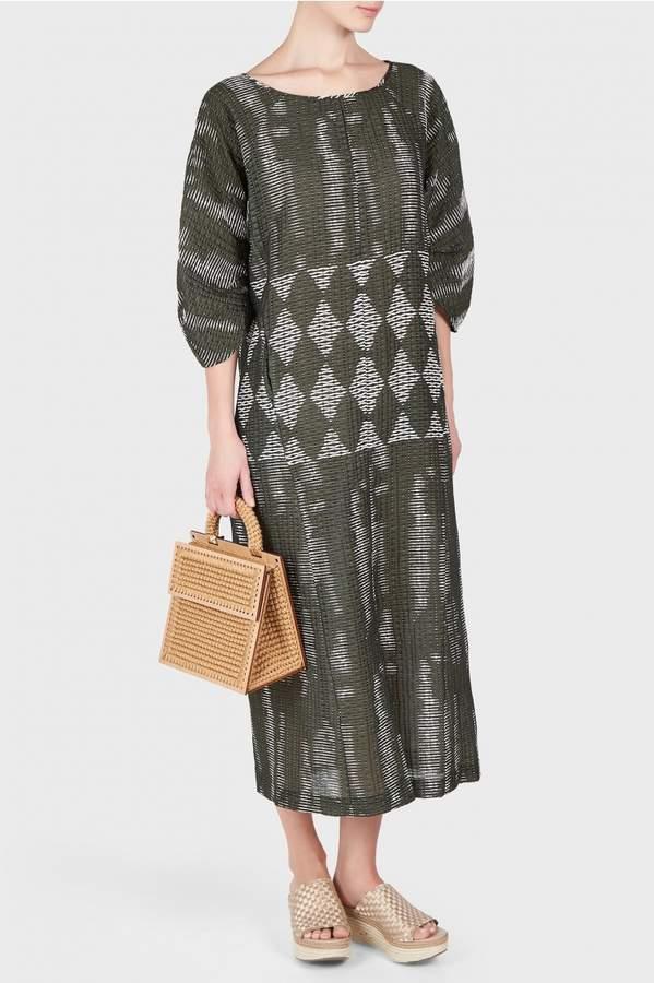 Zero Maria Cornejo Beetle Tribal Print Dress