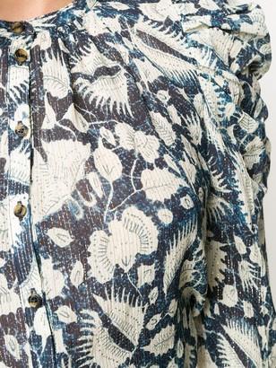 Ulla Johnson Long-Sleeve Floral Blouse