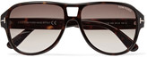 Tom Ford - Dylan Aviator-style Tortoiseshell Acetate Sunglasses