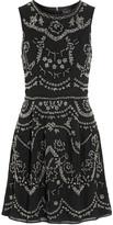 Needle & Thread Embellished crepe mini dress