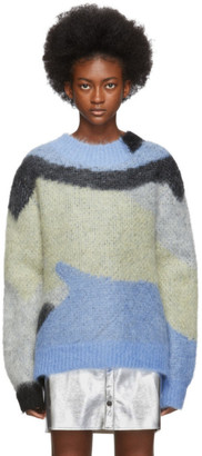 Ambush Blue Mohair Crewneck Sweater
