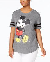 Hybrid Trendy Plus Size Cotton Mickey Mouse Graphic T-Shirt