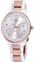 Jivago Women's JV2414 Sky Analog Display Swiss Quartz Two Tone Watch