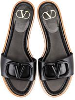 Valentino Vlogo Slides in Black | FWRD