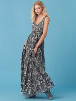 Diane von Furstenberg Floor-Length Pleat Dress