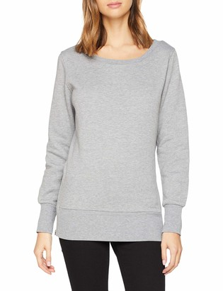 Urban Classics Women's Ladies Side Zip Long Crewneck Sweater