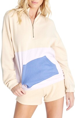 Wildfox Couture Women's Lea Quarter-Zip Pullover Sweatshirt