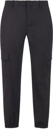 Neil Barrett Stretch Blend Wool Cargo Pants