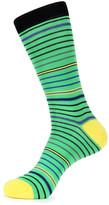 Jared Lang Excellent Stripe Crew Socks