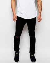 Jack & Jones Skinny Jeans With Rips