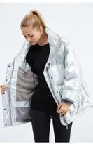 adidas by Stella McCartney Wintersport Silver Metallic Jacket