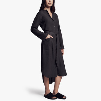 James Perse Tie Waist Shirt Dress