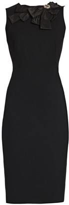 Alexander McQueen Bow Embellished Pencil Dress