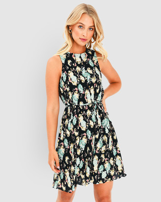 Forcast Vienna Floral Pleated Dress