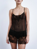 Passionata Blossom lace and mesh chemise