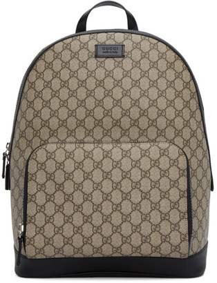 Gucci Beige and Black Small GG Eden Backpack