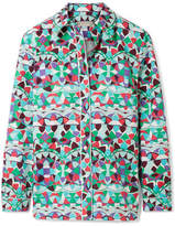 Emilio Pucci Printed Cotton-poplin Shirt - Mint