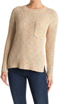 Lush Multi Stripe Print Knit Sweater