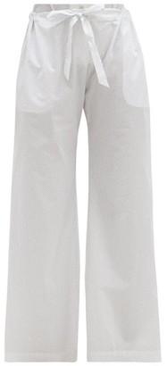 Rossell England - Bird-print Cotton-poplin Pyjama Trousers - White Print