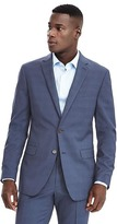 Banana Republic Standard Blue Plaid Wool Suit Jacket